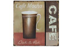 KJ Collection Metallschild Café Mocha 24 x 24cm