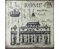 KJ Collection Metallschild Rome 24 x 24cm