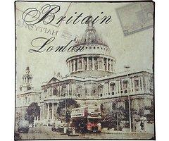 KJ Collection Metallschild London 24 x 24cm