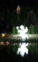 8Seasons Leuchtengel Shining Holyworker 80 x 80cm weiß außen