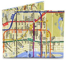 Mighty Wallet Geldbörse NYC Subway Map