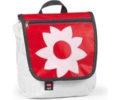 360 Grad Segeltuchtasche Kinderrucksack Blume rote