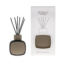 Millefiori Diffuser Vetro Quadro Glas ohne Raumduft schwarz/beige
