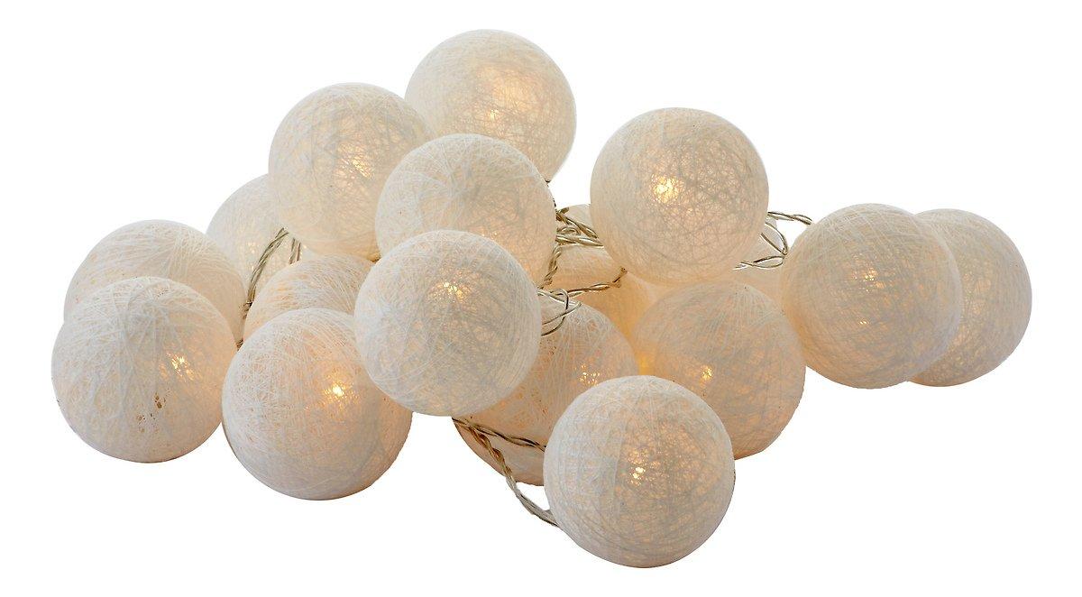 sirius lichterkette bolette 20 led 2 85 m baumwollkugeln wei kaufen. Black Bedroom Furniture Sets. Home Design Ideas