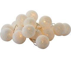 Sirius Lichterkette Bolette 20 LED 2,85 m Baumwollkugeln weiß