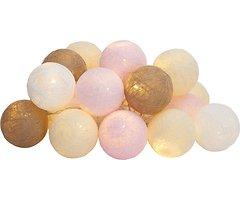 Sirius Lichterkette Bolette 20 LED 2,85 m Baumwollkugeln delicate blush