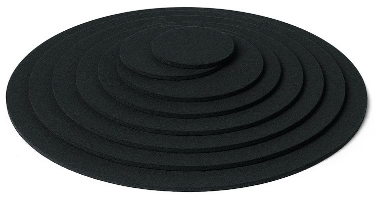 hey sign untersetzer filz rund 9 cm schwarz kaufen. Black Bedroom Furniture Sets. Home Design Ideas