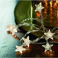 Sirius Lichterkette Melanie Star klar 50 LED 7,35m transparent