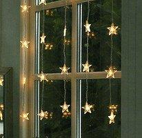 Sirius LED Lichtervorhang Melanie 25 Acrylsterne 1 x 1m transparent