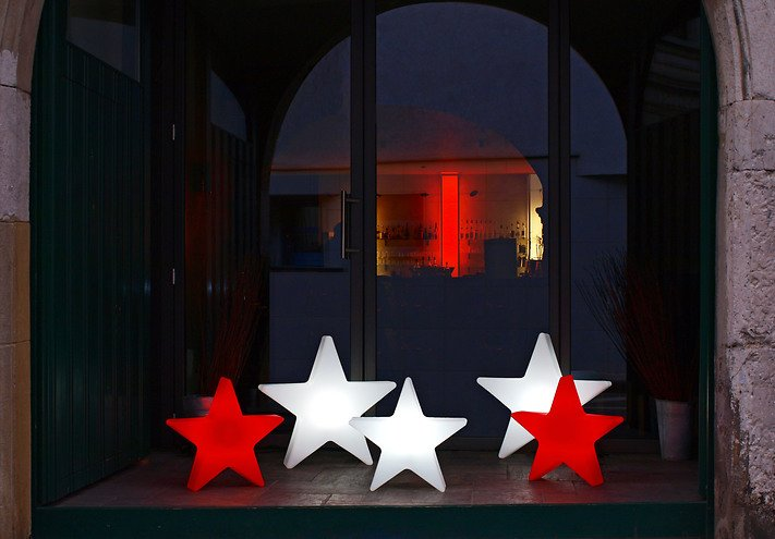 8seasons leuchtstern shining star 80cm rot au en kaufen. Black Bedroom Furniture Sets. Home Design Ideas