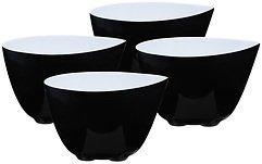 Zone Schale Mix schwarz-weiß 8cm 4er Set