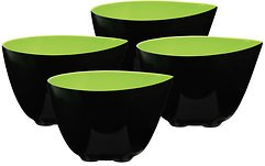 Zone Schale Mix schwarz-limettengrün 8cm 4er Set