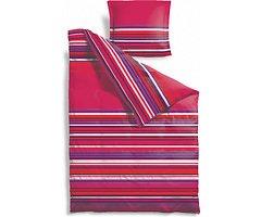 Zone Bettwäsche Confetti 140x220cm / 60x63cm Streifen pink