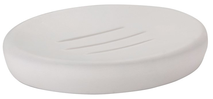Zone Seifenschale Confetti Porzellan weiß