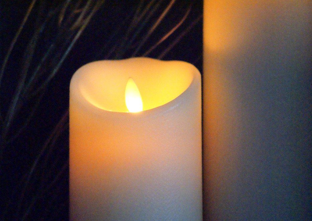 luminara led kerze 8 x 10 cm elfenbein kaufen. Black Bedroom Furniture Sets. Home Design Ideas