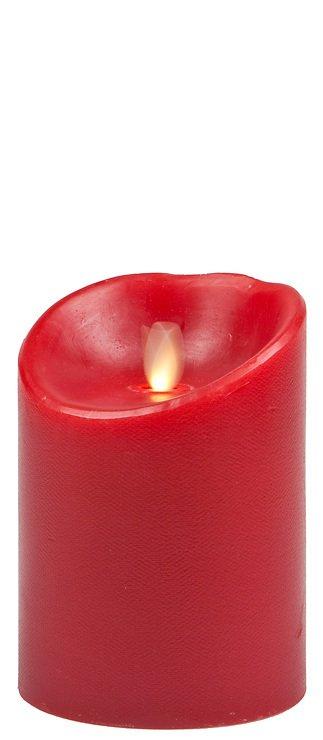 Luminara LED Kerze Echtwachs D 10 x H 13 cm bordeaux rot - Pic 1