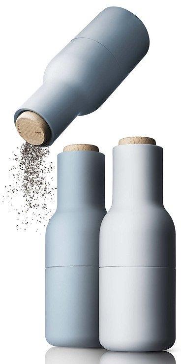 Menu Salz- und Pfeffermühle Bottle Grinder 2er Set blau - Pic 1