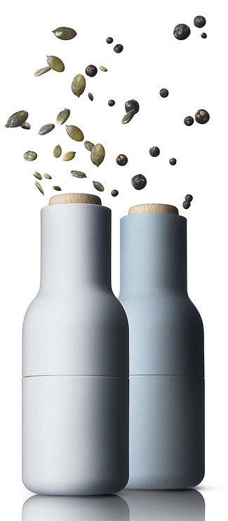 Menu Salz- und Pfeffermühle Bottle Grinder 2er Set blau - Pic 3