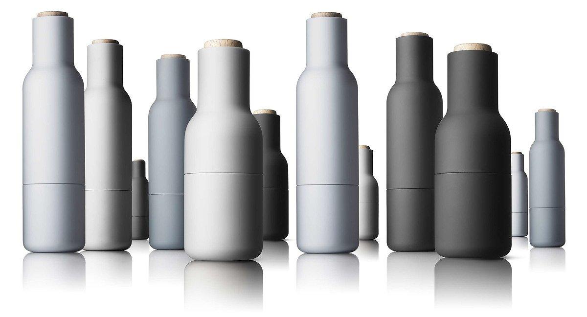 Menu Salz- und Pfeffermühle Bottle Grinder 2er Set grau offwhite - Pic 4