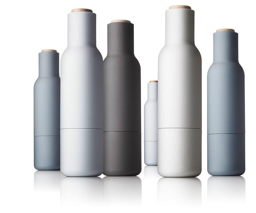 Menu Salz- und Pfeffermühle Bottle Grinder 2er Set grau offwhite - Pic 3