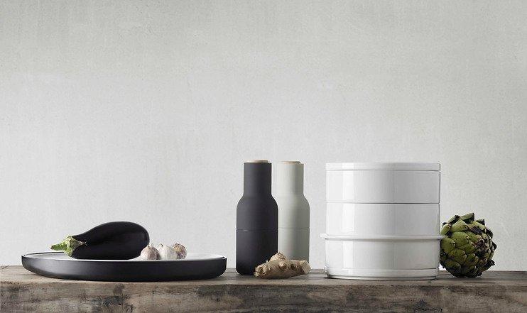 menu salz und pfefferm hle bottle grinder 2er set grau. Black Bedroom Furniture Sets. Home Design Ideas