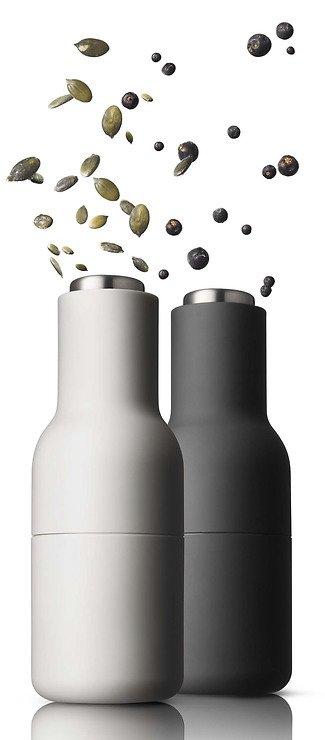 Menu Salz- und Pfeffermühle Bottle Grinder 2er Set grau offwhite - Pic 2