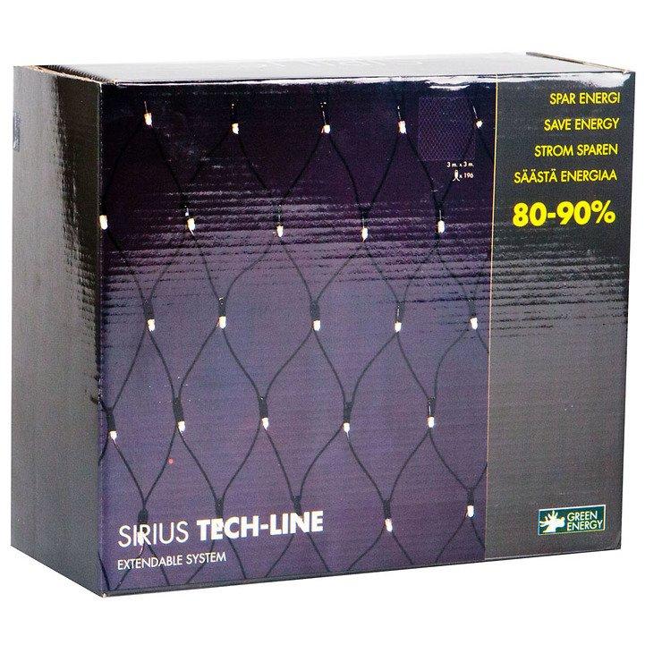 Sirius Lichternetz Tech-Line 196 LED warmweiß 230V 3 x 3m schwarz - Pic 3