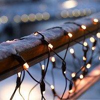 Sirius Lichternetz tech-line Balkon 105 LED warmweiß 230V 2,5 x 0,5m schwarz