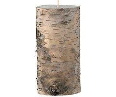 Broste Stumpenkerze in Echtholz Birkenrinde 7,5cm h15cm