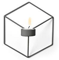 Menu POV Wandteelichthalter 3D Cube Stahl grau