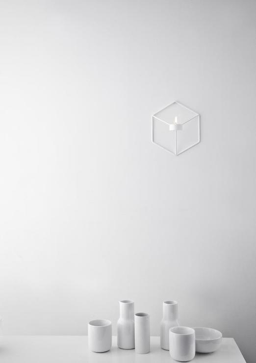 Menu POV Wandteelichthalter 3D Cube Stahl weiß - Pic 2