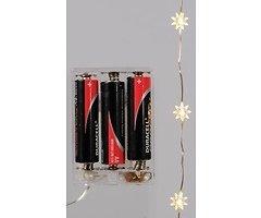 Kaemingk Micro Lichterkette Sterne 20 LED warmweiß batteriebetrieben 1m