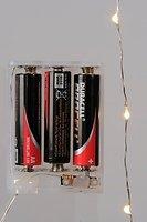 Kaemingk Micro Lichterkette 20 LED warmweiß batteriebetrieben 1m