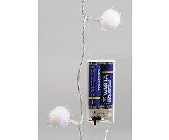 Kaemingk Lichterkette Schneekugel 20 LED Innen Batterie 2,75m weiß