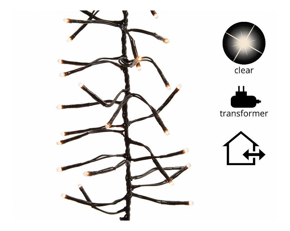 Kaemingk Büschellichterkette 576 Lämpchen außen 3,4m schwarz - Pic 1