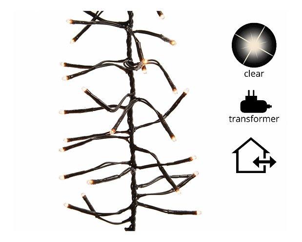 Kaemingk Büschellichterkette 576 Lämpchen außen 3,4m schwarz