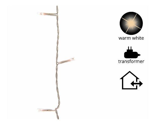 Kaemingk Lichterkette mit Dimmer 180 LED warm weiß 13,5 m außen transparent