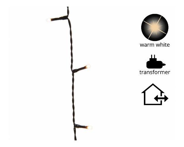Kaemingk Lichterkette mit Dimmer 360 LED warm weiß 27 m außen schwarz
