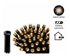 Kaemingk Lichterkette Ricelight 48 LED Batterie außen 3,5m schwarz