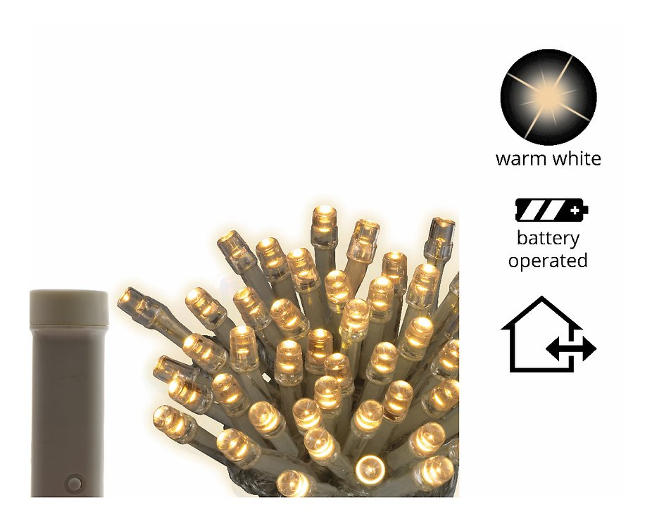 Kaemingk Lichterkette Ricelight 48 LED Batterie außen 3,5m transparent - Pic 1