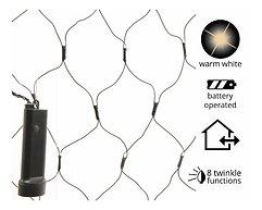 Kaemingk Lichternetz Durawise 192 LED Blinkfunktion Batterie schwarz 1,8 x 0,9m außen