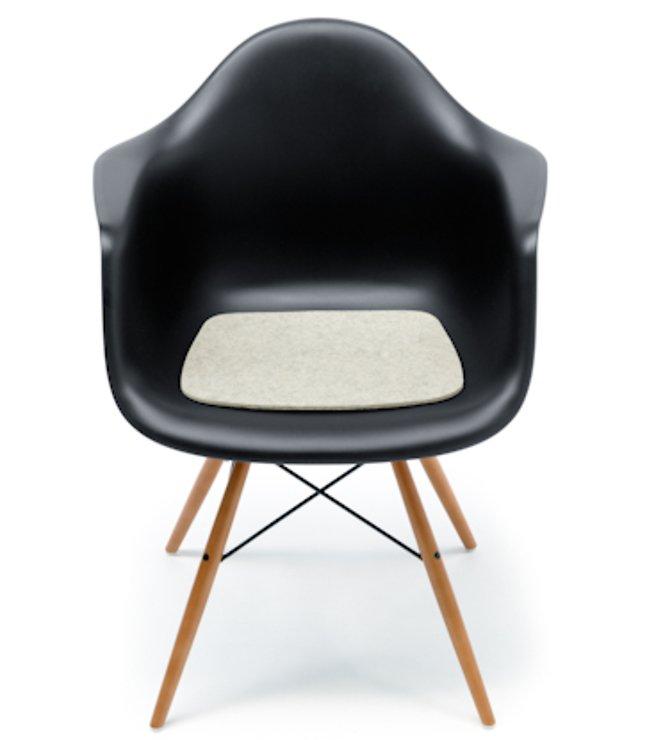 Hey-Sign Sitzauflage Eames Plastic Armchair Antirutsch Filz schwarz - Pic 2