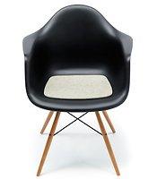 Hey-Sign Sitzauflage Eames Plastic Armchair Antirutsch Filz hellmeliert