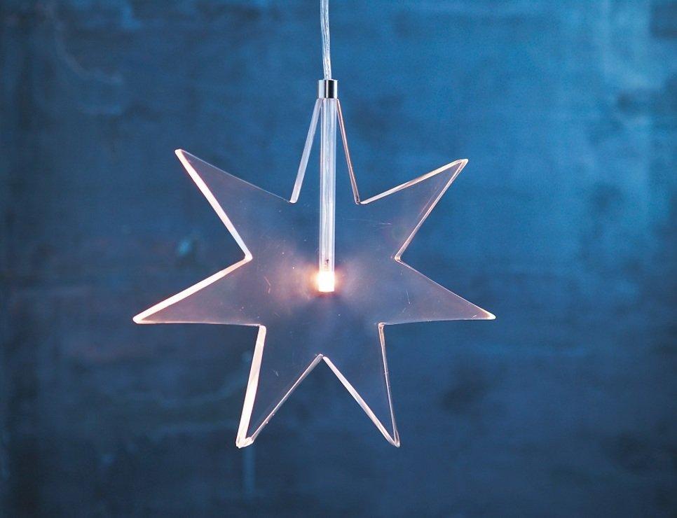 Sirius LED Leuchtanhänger Luisa Star 25 cm Acryl klar - Pic 2
