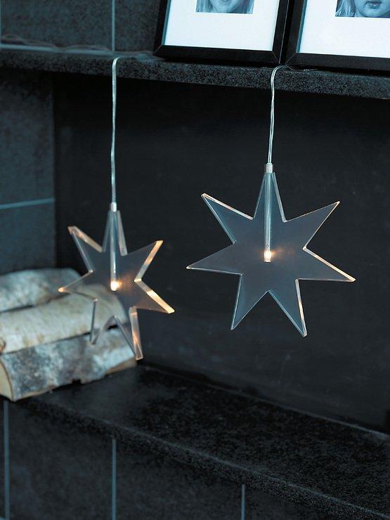 Sirius LED Leuchtanhänger Luisa Star 25 cm Acryl klar - Pic 1