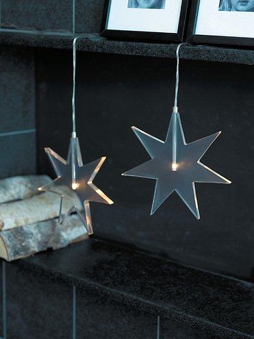 Sirius LED Leuchtanhänger Luisa Star 25 cm Acryl klar