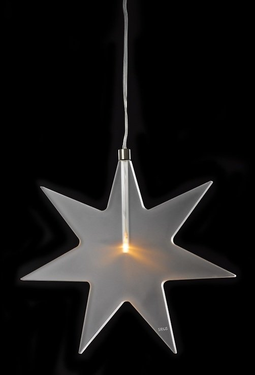 Sirius LED Leuchtanhänger Luisa Star 25 cm Acryl frosted - Pic 1
