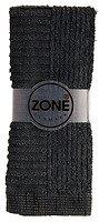 Zone Handtuch Waschlappen CONFETTI 30x30cm schwarz