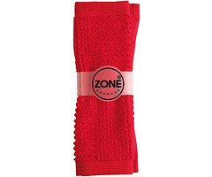 Zone Handtuch Waschlappen CONFETTI 30x30cm rot
