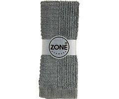 Zone Handtuch Waschlappen CONFETTI 30x30cm grau